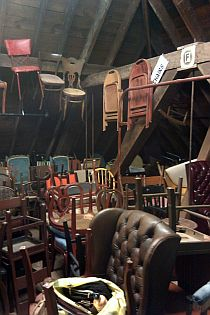 Chairs in shop