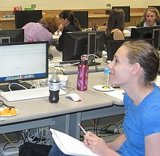 Women working at computers