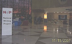 Conference concourse with NWP sign