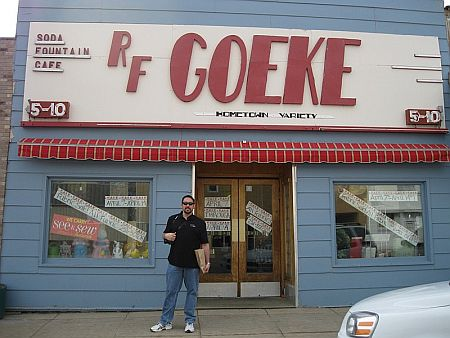 Outside Goeke's Store