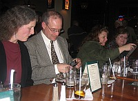Kate, Robert, Susan, and Sharon at dinner