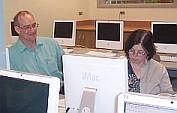 Teachers in computer lab
