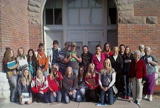 Valentine High School students at Centennial Hall