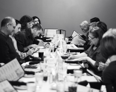 Writers Reading around a Table