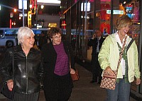 Teacher-consultants walking downtown