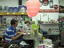 Writers inside a variety shop