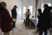 Writers in art gallery
